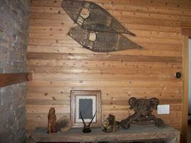 wood snow shoes, Chalk Bear, Hay Crib