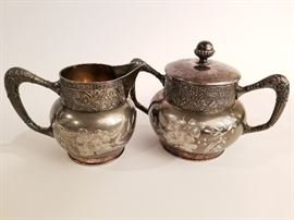 Antique Barbour Bros. Quadruple Silverplated Sugar and Creamer Set and More http://www.ctonlineauctions.com/detail.asp?id=678216