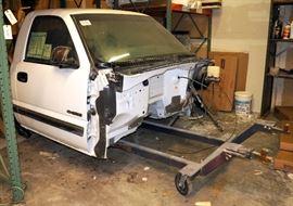 2001 Chevrolet Silverado LS1500 Regular Cab Pickup Cab, Summit White Exterior, Garphite Cloth Interior, Vin# 1GCEK14T51Z312175