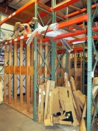 "Pallet Racking With Custom Wood Vertical Storage Rack, 13'H x 14'W x 30""D"