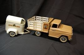 Vintage Tonka Farms Stake Truck and Trailer