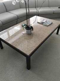 "Room and Board Rand Granite Cocktail Table..60"" wide x 36"" Depp x 16"" High...$450"