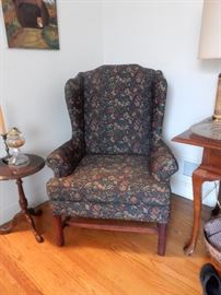 Chippendale Wing Chair - 1 of 2 - Like New!