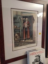 This color lithograph was typical of a true Anglophile who loved food, wine, and entertaining!