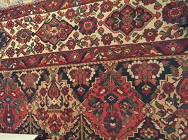 """This is an antique Persian Bahkatryia rug,  11'8"""" x 15'3"""""""