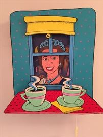 """""""The Queen"""" by pop artist Norris Hall, 1990, multi-dimensional."""
