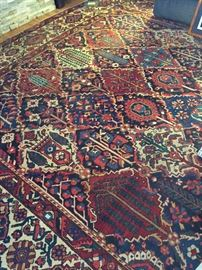 Another view of this living room rug.  In addition to the room rugs shown, we have many other antique Persian rugs that will be displayed on the driveway.