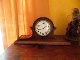 One of several antique clocks ( this one has no key)