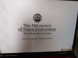 $50 Silver Proof Coins - The Milestone of Space Exploration