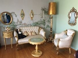 Fabulous Gilt Decorator Suite.