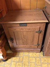 Wood Cabinet Replica Ice Box