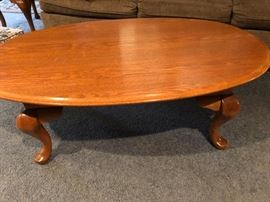 Oak Coffee Table also has two matching end tables.