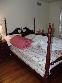 Mahogany poster bed