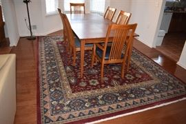 BOTH Oriential Rugs size in the two rooms  are  8.4 x 11.6 approximately