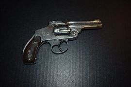 "Antique ""Lemon Squeeze 38 caliber handgun purchased in 1902. More detail on this and other antique rifles, shotguns, carbines, etc. to come"