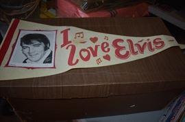 Rare 1950's Elvis Banner!!!