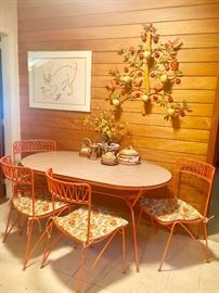 Vintage SALTERINI iron dining table and 4 SALTERINI iron ribbon chairs😍😍