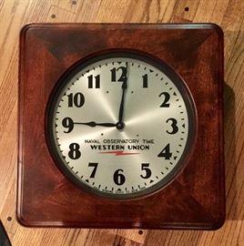 1930's Western Union Self Winding Clock