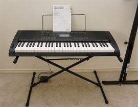 Casio CTK-2000/3000 electric keyboard with stand