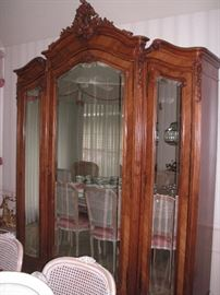 Antique French 19th century Louis XV style armoire