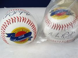 2 Babe Ruth Baseballs
