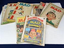 10 Vintage MAD Magazines