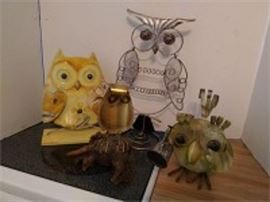 Metal Owl Decor