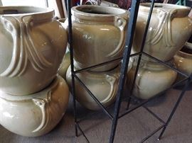 Bunch Heavy Pots & Iron Shelf Stands/glass shelving