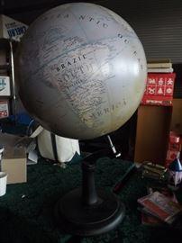 large globe/newer to look vintage