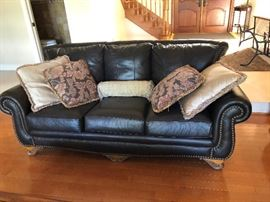 Leather Push pin couches