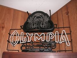 Vintage Olympia On Tap neon beer sign