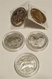 HCC001 Sam Boyd $7 Silver, Nahienaena Medal 1/200
