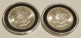 HCC009 1900 & 1901 Morgan Silver Dollars