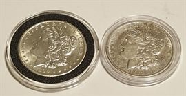 HCC010 1888 & 1899 Morgan Silver Dollars
