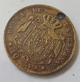 HCC031 1968 Spain 10 Escudos Gold Coin