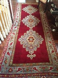 "29. Antique Oriental Persian Hamadan Wool Rug, Red/Grey (11'3"" x 4'3"")"