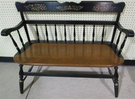 Hitchcock style bench