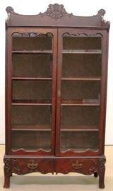 Original finish oak bookcase