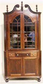 Antique Chippendale corner cupboard