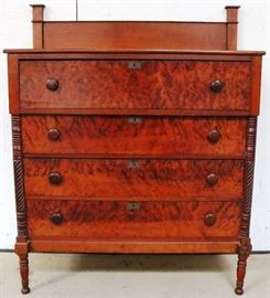 Outstanding tiger/curly maple chest