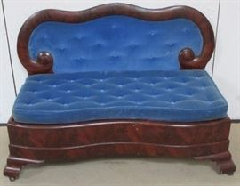 Period Victorian bustle bench