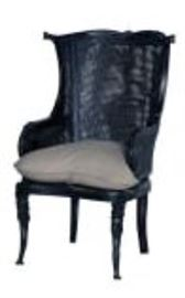 Guildmaster caned wingback chair