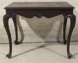 Carved knee side table
