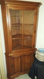 Tell City Corner Cabinet one of two