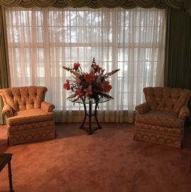 Vintage tufted chairs