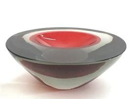 Murano Cenedese Sommerso Art Glass Bowl