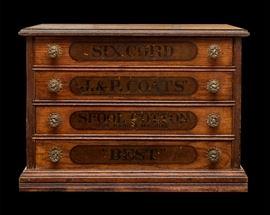 J & P Coats Spool Cabinet - 4 Drawer