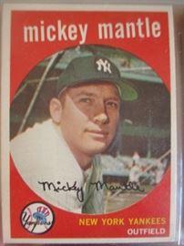 mickeymantlebaseballcard