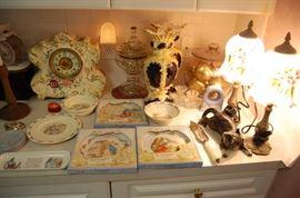 Peter Rabbit Beatrix Potter, Dresden Clock that works