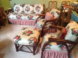 signed old hickory 7 piece furniture set circa 40's/50's